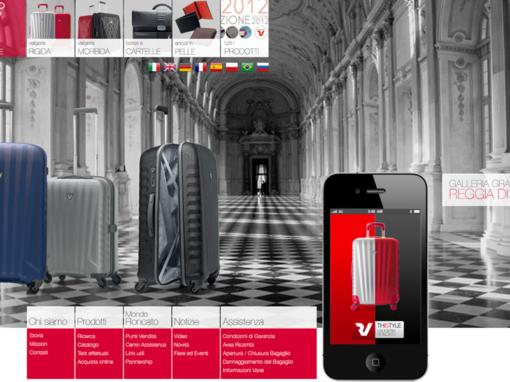 Studio grafico sito internet per valigieria