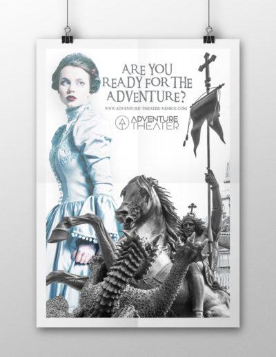 """Locandina poster per spettacolo """"Veronica"""""""