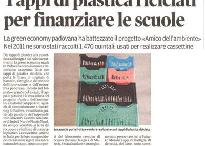 """Articolo """"Il mattino di Padova"""""""